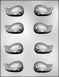 "2-1/8"" WHALE CHOCOLATE CANDY MOLD"