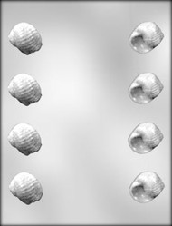 "1-3/8"" 3D SEASHELL CHOCOLATE CANDY MOLD"