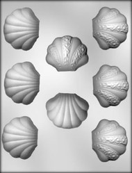 "1-1/4"" CLAM SHELL CHOCOLATE CANDY MOLD"