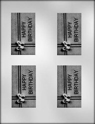 "3-3/4"" BIRTHDAY BAR CHOCOLATE CANDY MOLD"