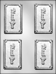 "3-3/4"" THANK YOU CARD/BAR CHOCOLATE CANDY MOLD"