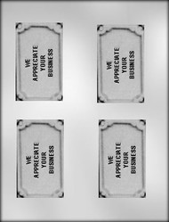 "3-3/4"" APPRECIATE YOUR BUSINESSNESS CARD/BAR CHOCOLATE CANDY MOLD"