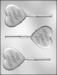 "2-1/2"" MOTHER'S DAY HRT SKR CHOCOLATE CANDY MOLD"