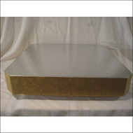 "Square Gold Floral Leaf Stand/Display Base--Choose From 14"", 16"" or 18"""