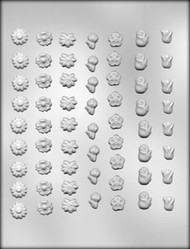 "1/2"" ASSTD FLOWER CHOCOLATE CANDY MOLD"