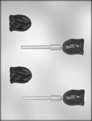 "1-3/4"" 3D ROSE SUCKER CHOCOLATE CANDY MOLD"