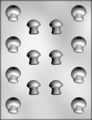"1-1/4"" & 1-1/8"" MUSHROOM ASSORTMENT CHOCOLATE CANDY MOLD"