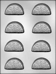 "2-1/4"" CITRUS SLICE CHOCOLATE CANDY MOLD"