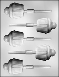 "2-1/4"" CUPCAKE SUCKER CHOCOLATE CANDY MOLD"