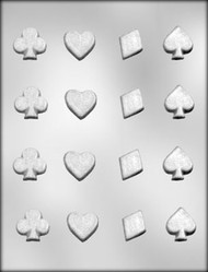 "1-1/4"" CARD SUIT CHOCOLATE CANDY MOLD"