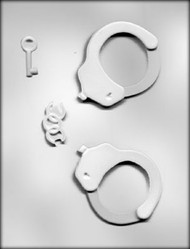 "3-3/4"" 3D HANDCUFFS CHOCOLATE CANDY MOLD"