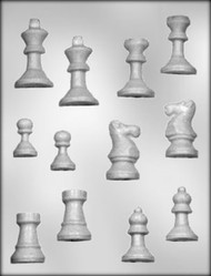 "1-3/8"" - 2-3/8"" 3D CHESS PIECES CHOCOLATE CANDY MOLD"