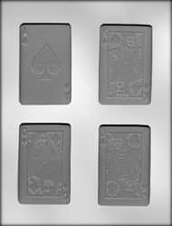 "3-1/2"" PLAYING CARD CHOCOLATE CANDY MOLD"