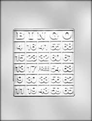 "5-3/8"" BINGO CARD CHOCOLATE CANDY MOLD"