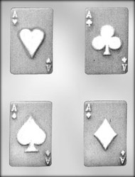 "3-1/2"" PLAYING CARD CHOCOLATE CANDY MOLD."