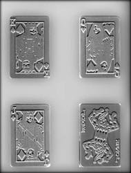 "3-1/2"" PLAYING CARD CHOCOLATE CANDY MOLD.."