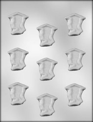 "1-5/8"" GRAD BOY CHOCOLATE CANDY MOLD"