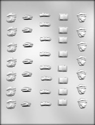 "3/4"" MINI GRAD ASSTMT CHOCOLATE CANDY MOLD"