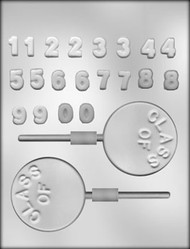 "1-3/4"" CLASS OF SUCKER CHOCOLATE CANDY MOLD"