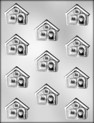 "1-5/8"" HOUSE CHOCOLATE CANDY MOLD"