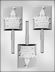 "3"" CASTLE SUCKER CHOCOLATE CANDY MOLD"