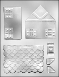 "4-1/4"" 3D GINGERBREAD HOUSE CHOCOLATE CANDY MOLD"