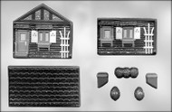 "5"" x 5"" x 4-1/2"" 3D HOUSE CHOCOLATE CANDY MOLD"