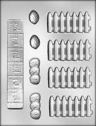 """1-1/2"""" FENCE/SIDEWALK CHOCOLATE CANDY MOLD"""