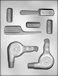 "1-5/8"" - 3-3/4"" HAIR STYLIST TOOL CHOCOLATE CANDY MOLD"