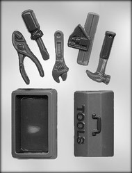 "3-7/8"" 3D TOOL BOX/TOOLS CHOCOLATE CANDY MOLD"