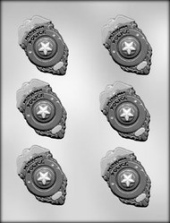 "3"" POLICE BADGE CHOCOLATE CANDY MOLD"