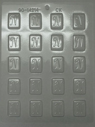 "1-1/4"" INITIAL N MINT CHOCOLATE CANDY MOLD"
