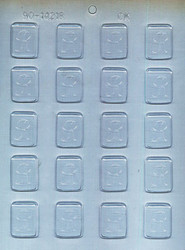 "1-1/4"" INITIAL R MINT CHOCOLATE CANDY MOLD"