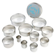 CUTTER SET-PLAIN ROUND--12 Piece Set