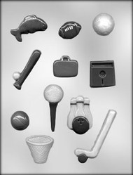 "1-1/8"" - 3-1/4"" SPORTS TIE ACCESSORIES CHOCOLATE CANDY MOLD"