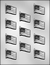 "1-5/8"" FLAG CHOCOLATE CANDY MOLD"