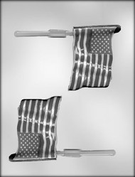 "3-1/2"" FLAG SUCKER CHOCOLATE CANDY MOLD"