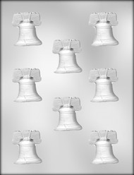 "1-3/4"" LIBERTY BELL CHOCOLATE CANDY MOLD"