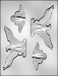 "3-5/8"" & 5-3/8"" EAGLES CHOCOLATE CANDY MOLD"