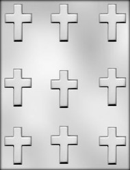 "2"" CROSS CHOCOLATE CANDY MOLD"
