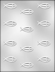 "2"" RELIGIOUS FISH CHOCOLATE CANDY MOLD"