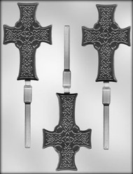 "4"" CELTIC CROSS SKR CHOCOLATE CANDY MOLD"