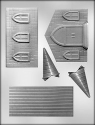 "4-1/4"" X 4-3/4"" X 5-3/4"" 3D CHURCH CHOCOLATE CANDY MOLD"