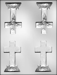 "3-3/4"" 3D CROSS/BASE CHOCOLATE CANDY MOLD"