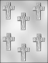 "2-1/2"" CROSS/LILY CHOCOLATE CANDY MOLD"
