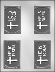 "3-3/4"" HE IS RISEN BAR CHOCOLATE CANDY MOLD"