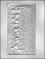 "8-3/8"" LAST SUPPER CHOCOLATE CANDY MOLD"