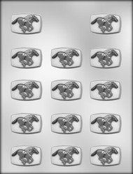 """1-5/8"""" HORSE RACE CHOCOLATE CANDY MOLD"""