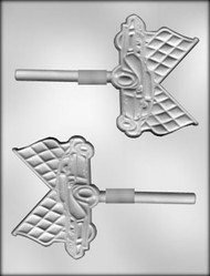 "4-1/4"" RACE CAR SKR CHOCOLATE CANDY MOLD"