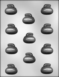 """1-5/8"""" 3D CURLING ROCK CHOCOLATE CANDY MOLD"""